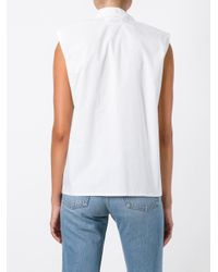 MM6 by Maison Martin Margiela - White Cotton Top - Lyst
