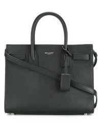 Saint Laurent - Black Classic Sac De Jour Baby Leather Bag - Lyst