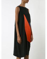Issey Miyake - Black Sleeveless Graphic Print Dress - Lyst