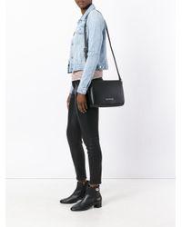 Armani Jeans - Black Flap Shoulder Bag - Lyst