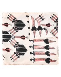 Valentino | Multicolor Ivory Scarf | Lyst