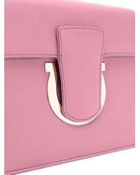 Ferragamo - Pink Thalia Leather Small Shoulder Bag - Lyst