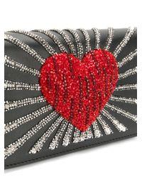 Les Petits Joueurs - Black Ginny Heart Leather Bag - Lyst