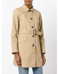 MICHAEL Michael Kors - Brown Two Tone Trench - Lyst