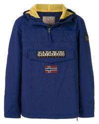 Napapijri - Blue Half Zip Sports Jacket for Men - Lyst