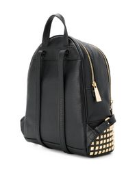 MICHAEL Michael Kors - Black Rhea Zip Studded Leather Backpack - Lyst