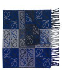 Loewe - Blue Fantasy Printed Scarf - Lyst