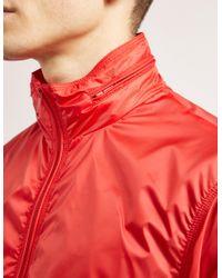 Armani Jeans - Red Nylon Funnel Neck Jacket for Men - Lyst