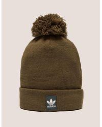 98e59396 adidas Originals Mens Logo Bobble Hat Brown in Brown for Men - Lyst