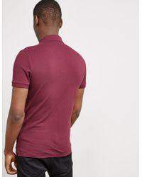 BOSS - Purple Mens Passenger Short Sleeve Polo Shirt Burgundy/burgundy for Men - Lyst