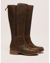 Ugg | Brown Vinson Zip Leather | Lyst