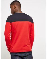 BOSS - Mens Togn2 Long Sleeve T-shirt Red for Men - Lyst