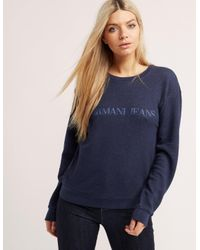 Armani Jeans | Blue Crew Neck Sweater | Lyst