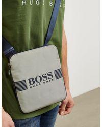 BOSS - Mens Pixel Small Pouch Bag Green for Men - Lyst