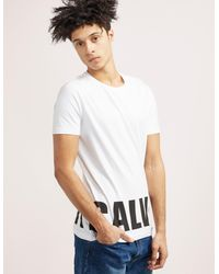 Calvin Klein - White Block Logo Short Sleeve T-shirt for Men - Lyst