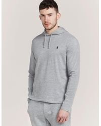 Polo Ralph Lauren - Gray Long Sleeve Hooded T-shirt for Men - Lyst