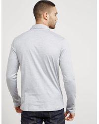 Michael Kors - Gray Mens Sleek Long Sleeve Polo Shirt Grey for Men - Lyst