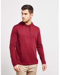 2155a8bad Polo Ralph Lauren Mens Basic Hooded Long Sleeve T-shirt Red in Red ...