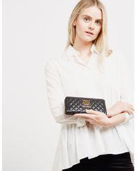 Love Moschino - Womens Quilted Zip Around Purse Black - Lyst