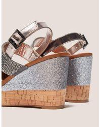 Ilse Jacobsen | Metallic Poppy Diamante Wedge Sandals | Lyst