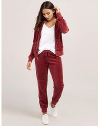 Juicy Couture - Red Robertson Velour Jacket - Lyst