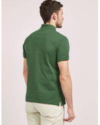Barbour - Green Tartan Pique Short Sleeve Polo Shirt for Men - Lyst