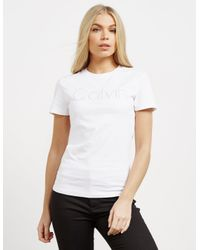Calvin Klein - Womens Tanya-36 Short Sleeve T-shirt White - Lyst