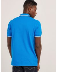 Fred Perry - Blue Twin Tipped Short Sleeve Polo Shirt for Men - Lyst