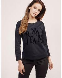 Armani Jeans - Black Crew Neck Sweater - Lyst