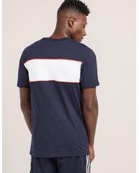Adidas Originals - Blue Linear T-shirt for Men - Lyst