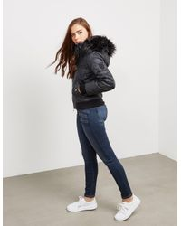 Juicy Couture - Womens Padded Hood Jacket Black - Lyst