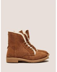 Ugg | Brown Quincy Sherling Desert Boot | Lyst