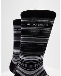 BOSS - Mens Stripe Socks - Online Exclusive Black for Men - Lyst