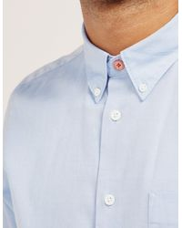 Paul Smith - Blue Oxford Long Sleeve Shirt for Men - Lyst