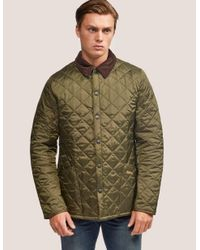 Lyst - Barbour Heritage Liddesdale Olive Quilted Jacket in Green for Men 3561ed2c6