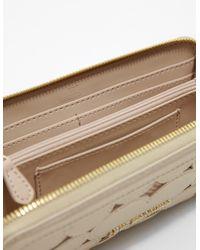 Love Moschino - Metallic Womens Heart Zip Around Purse Gold - Lyst