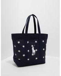 85c897b6e875 Polo Ralph Lauren Mens Stars Tote Bag - Online Exclusive Navy Blue ...