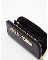Love Moschino - Womens Logo Purse Black - Lyst