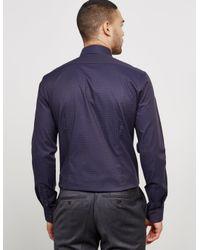 CALVIN KLEIN 205W39NYC - Blue Mens Padua Houndstooth Long Sleeve Shirt Navy for Men - Lyst