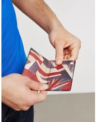 PS by Paul Smith - Mens Union Jack Card Holder Navy Blue for Men - Lyst