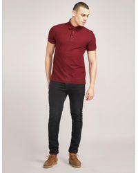 Z Zegna - Red Mens Patterned Short Sleeve Polo Shirt Burgundy for Men - Lyst