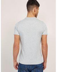 Barbour - Gray International Small Logo Short Sleeve T-shirt for Men - Lyst