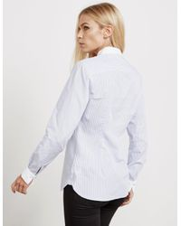 Tommy Hilfiger - Womens Signature Long Sleeve Shirt - Online Exclusive Blue - Lyst