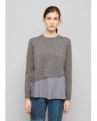 Thakoon | Gray Sweater Combo Top | Lyst