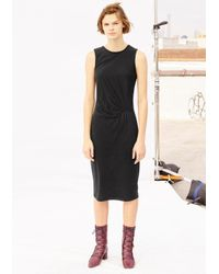 Thakoon | Black Jersey Drape Dress | Lyst