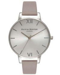 Olivia Burton - Gray Big Dial Watch - Lyst
