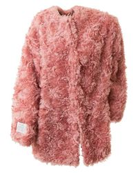 Stella McCartney | Elina Pink Mohair Blend Coat | Lyst