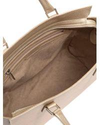 Lancaster Paris - Natural Saffiano Effect Leather Bag - Lyst