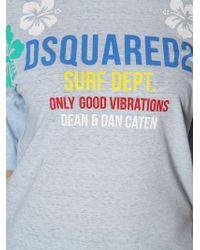 DSquared² - Light Blue Cotton T-shirt - Lyst