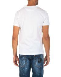 Fendi - White Logo-print Cotton T-shirt for Men - Lyst